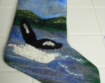 Needlefelted Christmas Stocking from Your Photo
