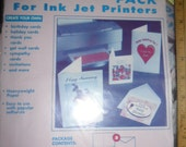 Never Used Greeting Card Pack for Ink Jet Printers