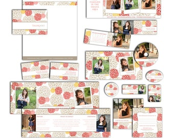 Blooming Summer - Photography Marketing Package - 11 Customizable Items - Photoshop Template Set (19 Files Total) MC8001