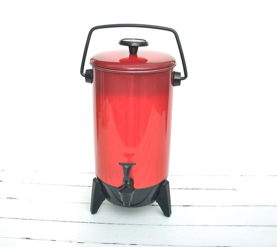 Mirro Percolator Coffee Maker : Vintage Mirro-Matic Aluminum Electric Percolator by MellowMermaid