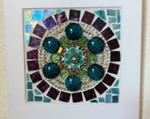 Mosaic Decorative Wall Hanging Blue-Green and White