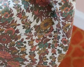 Pretty Harvest Flowers - Vintage Fabric 50s 60s 36 in wide Garden Print New Old Stock