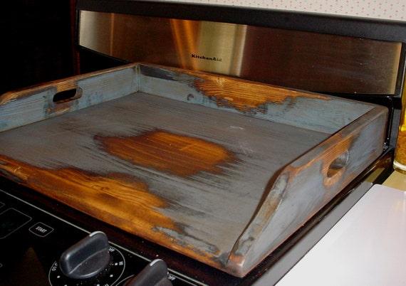 Primitive Wood Stove Top Cover Noodle Board Medium Size