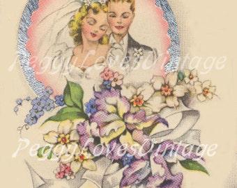 350 Vintage Greeting Card Wedding Images on CD Vol 1