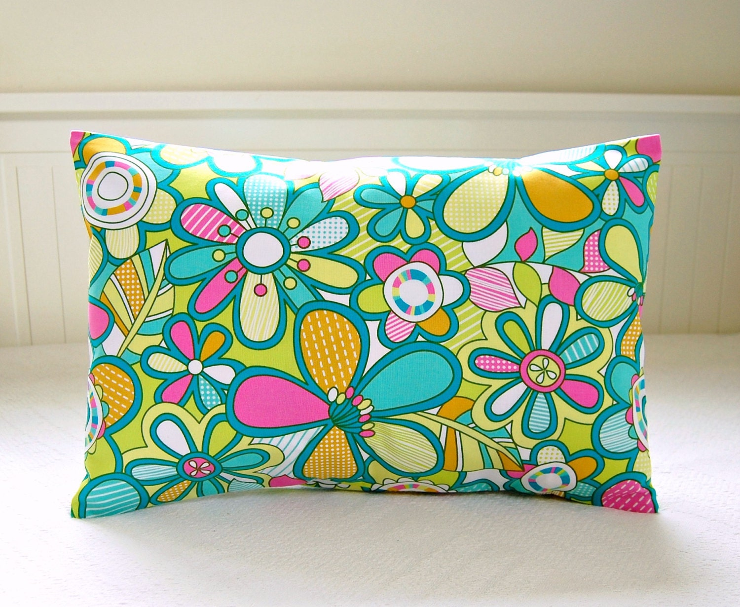 decorative pillow cover 12 x 18 inch lumbar retro style
