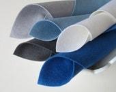 Wool Felt, Steely Blue Color Story, Felt Fabric Set, Wool Felt Squares, Handwork Felt, Waldorf Crafts, Toxin Free, Eco Friendly Felt, DIY