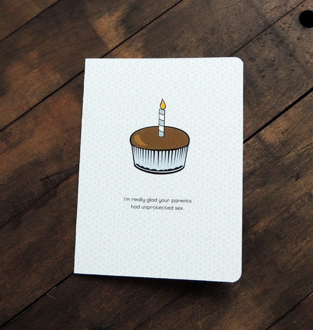 Funny Inappropriate Birthday Card Cupcake Unprotected sex – Inappropriate Birthday Cards