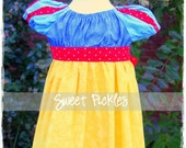 Snow White Inspired Play Dress COSTUME Size 2T 3 4 5 6