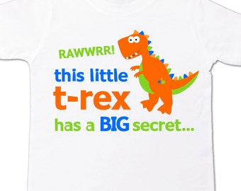 Funky dinosaur big brother to be little t-rex has a secret pregnancy announcement Tshirt