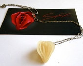 Erotic Flower Necklace in Translucent