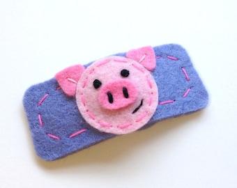 Pig Hair Clip - Piggy Barrette - FREE US SHIPPING