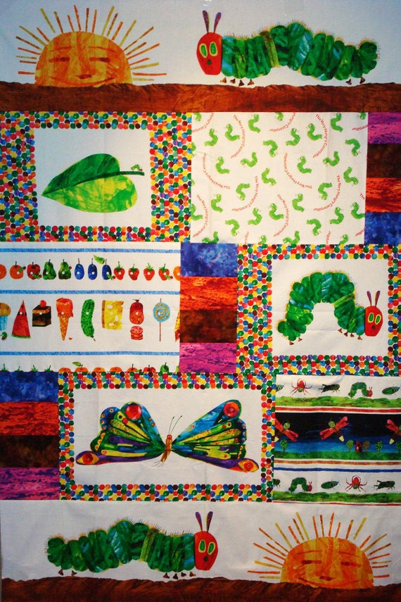 The Very Hungry Caterpillar Quilt Kit Fabric By Eric Carle