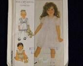 Vintage Uncut Simplicity Pattern 8713 Toddler Size 3 Enchanting Girls Dresses