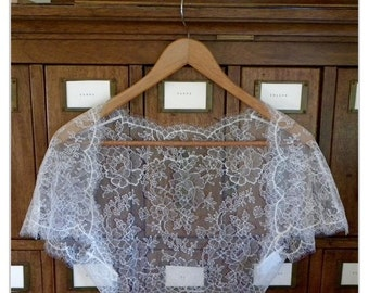 French Chantilly Lace Bolero Made to Order, Lace Shrug, Custom Chantilly Lace Bridal or Evening Shrug, Lace Bolero