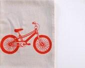 Floursack Cotton Kitchen Towel - Mountain Bike - Choose your ink color