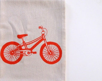 Cotton Kitchen Towel - Mountain Bike - Choose your ink color