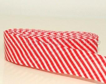 Bias tape Stripes in Red -- 2 meters