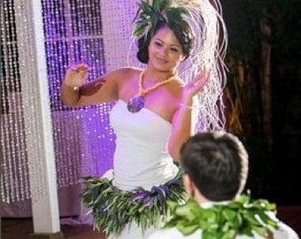 Nīʻau Blanc Hair Comb for Tahitian Dance