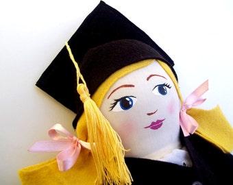 Custom Graduation Cloth Handpainted Heirloom Doll