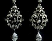 SALE - Leaves Bridal Earrings, Woodland Wedding, Vines Earrings, Cubic Zirconia Earrings, VINEA