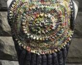 Han-knitted, hand-painted super soft Ninja Shrug