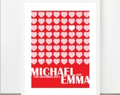Personalized Wedding Date Concert Poster - Customized with Name and Date