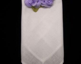 Set of 8 Table Napkins with Batenburg lace corners