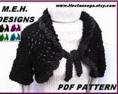 CROCHET PATTERN Shrug - Light and Lofty Shrug, make it small, medium large, or custom size. num. 23  women or girls