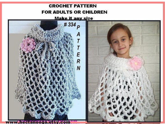 SHAWL PATTERN, CROCHET,  num 334 Cowl Neck, Pull Over Shawl, make it any size, permission to sell your shawls