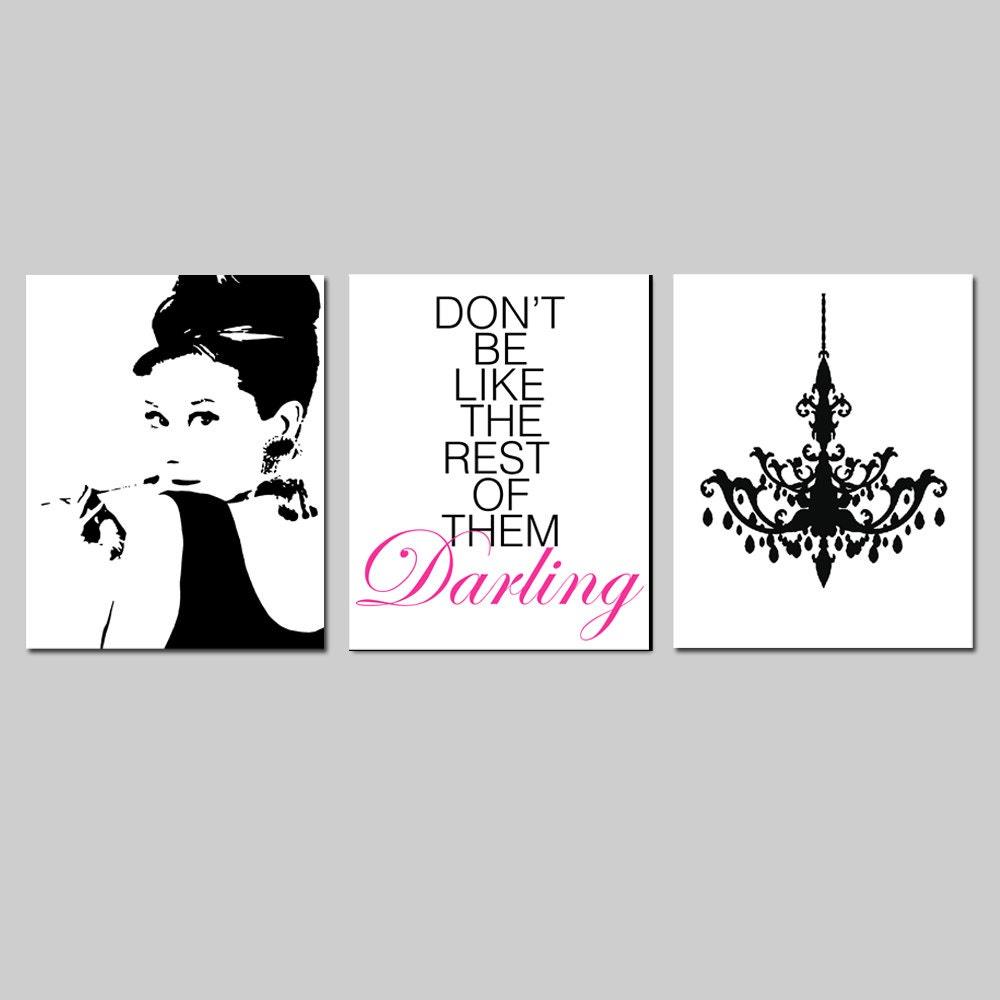 Girly Bedroom Audrey Hepburn Poster: Girl Bedroom Art Audrey Hepburn Don't Be Like The Rest
