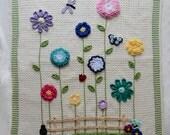 Field of Flowers Afghan & Pillow Set Crochet Pattern PDF