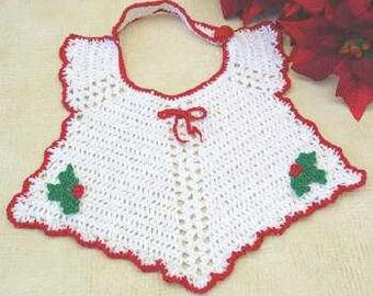 Christmas Bib Crochet Pattern PDF
