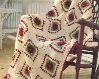 Vintage Rose Afghan Crochet Pattern PDF