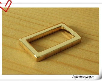 10 pieces 1 inch ( 25mm x 14mm )  gold  Heavy duty alloying strap rectangle ring U101