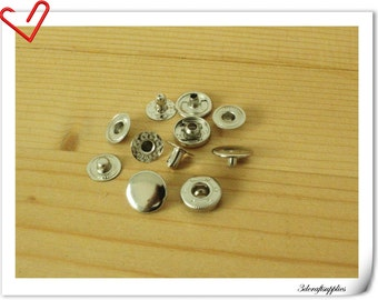 40 sets 8 mm argent snap button Snap Fastener i43