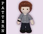 Crochet Pattern - Amigurumi Edward Doll