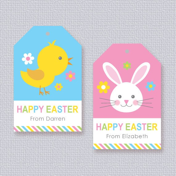 Printable easter gift tags craftbnb happy easter gift tags negle Gallery