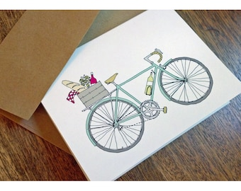 Set of 8 Picnic Bike - Wine Bike Cards