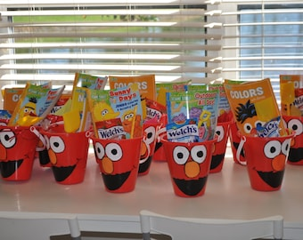 Elmo party favors, beach buckets made to order