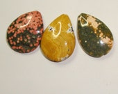 3 OCEAN JASPER pendants some with druzy Carol Wall on ETSY gemstone pendants