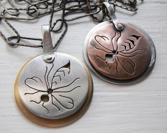 SALE  Wasp Cutout Necklace - Dark Matter Series