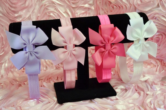4 Piece Elastic Baby Headband Set
