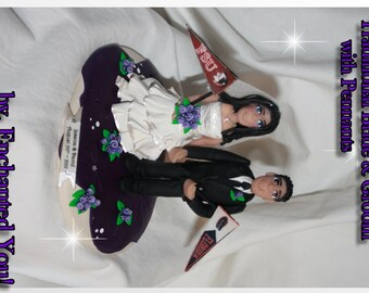Wedding Cake Topper, Pennants, Personalized