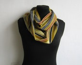 Infinity Scarf - Stripes Lightweight Handmade Circle Scarf