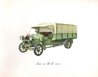 1914 Antique Truck Print of the Fiat 18BL
