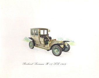 Antique 1912 Car print of the Panhard Levassor