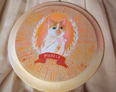 Custom pet portrait on a wooden plaque