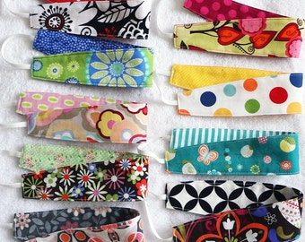 Reversible non slip headbands, set of 3 cotton hair wraps, newborn baby child girl adult women, sports yoga girl party favors gift bulk pack