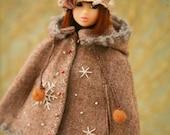 jiajiadoll camel snow flower hooded coats cape 2 WAY-for momoko or misaki or Blythe
