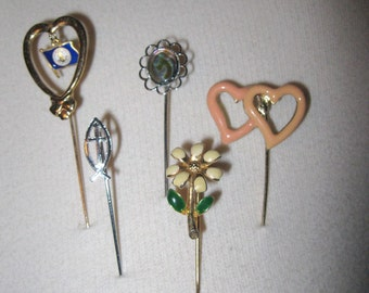 Vintage Stick Pin Hat Pin Lapel Pin Brooch Collection